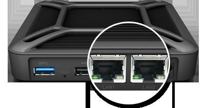 Zwiększenie dostępności sieci dzięki dwóm portom LAN i obsłudze sieci 3G/4G