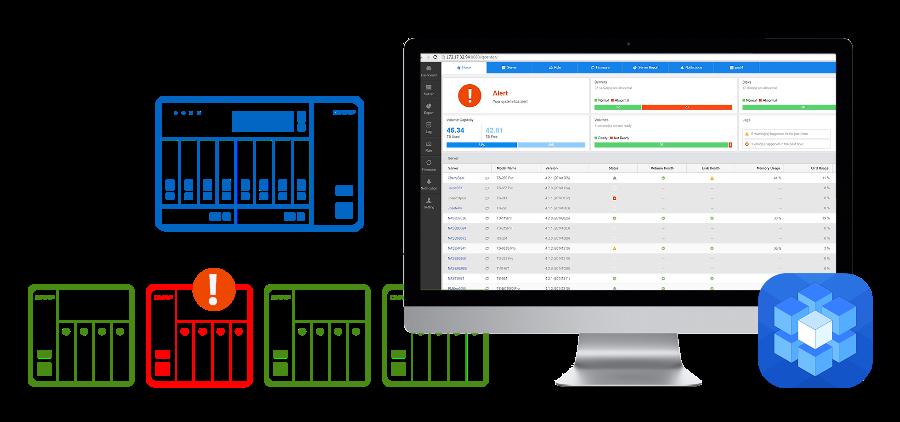 Monitorowanie wielu serwerów NAS i zarządzanie nimi z poziomu Q'center