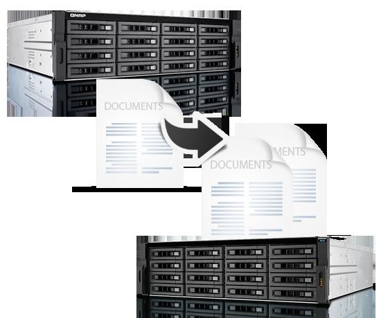 Doskonałe rozwiązanie do backupu pamięci masowej NAS QNAP